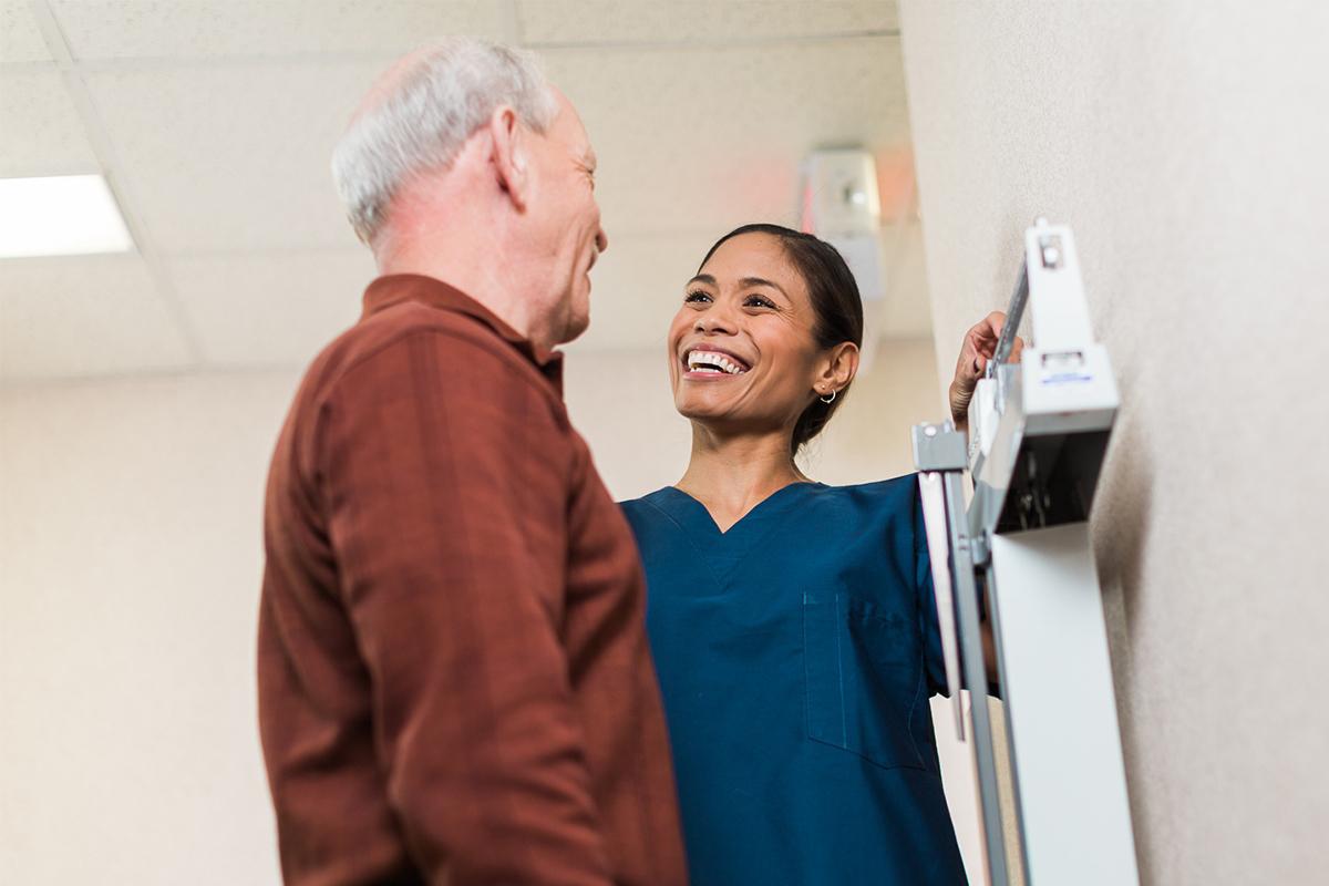 Female nurse smiling