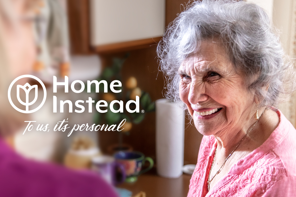 Home Instead Logo with senior